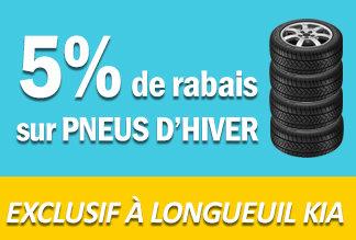 5% de rabais sur les pneus d'hiver