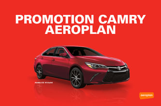 Promotion Camry - Aeroplan