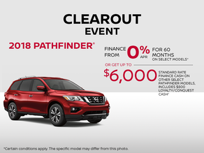 Save on the 2018 Pathfinder!