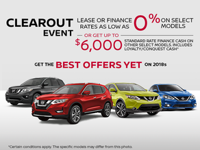Nissan Monthly's sales event!