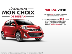 La nouvelle Nissan Micra 2018