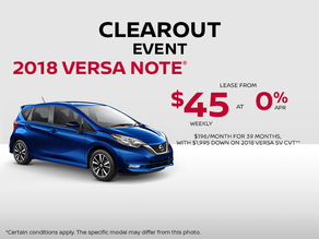 Save on the 2018 Versa Note today!