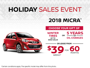 Save on the 2018 Micra!