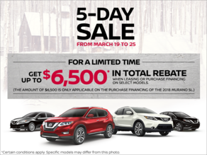 Nissan's 5-Day sale!