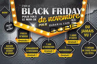 Black Friday pour tout le mois de novembre chez Dubekia.com