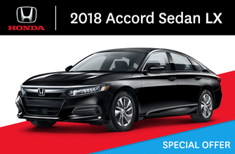 2018 Honda Accord Sedan LX manual
