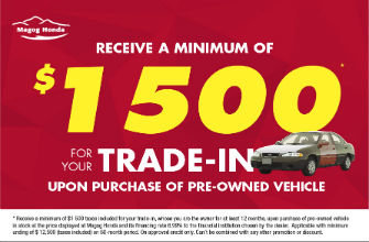 For your trade in vehicle