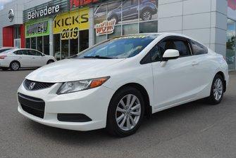 2012 Honda Civic Cpe EX COUPÉ GR ÉLECTRIQUE BLUETOOTH A/C