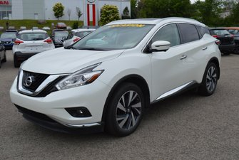 2016 Nissan Murano PLATINUM AWD CUIR NAVIGATION TOIT OUVRANT