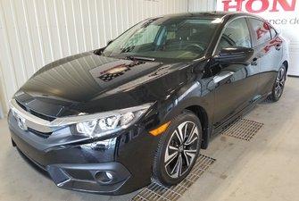 Honda Civic Sedan EX-T full mags toit bas millage certifié 2018