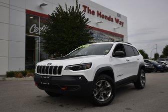 2019 Jeep Cherokee TRAILHAWK - LEATHER, BLUTEOOTH, B/U CAMERA, WINCH