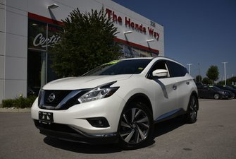 2015 Nissan Murano PLATINUM - 360 CAMERA, COOLED SEATS, LEATHER