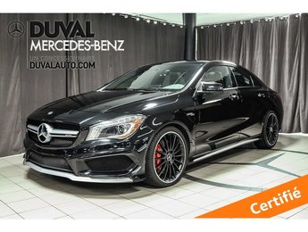 2016 Mercedes-Benz AMG CLA 45 DRIVER ET EXCLUSIVE PACK ET PLUS.