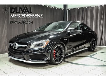 2016 Mercedes-Benz AMG CLA 45 DRIVER ET EXCLUSIVE PACK AMG ET PLUS.