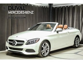 2018 Mercedes-Benz C-Class C300 Cabriolet 4MATIC DIAMOND WHITE - SADLE BROWN