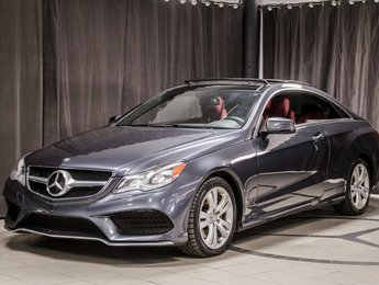 2014 Mercedes-Benz E-Class E350 Coupe 4MATIC cuir rouge!