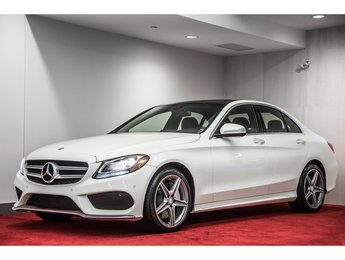 2015 Mercedes-Benz C-Class C300 4MATIC **CUIR AMG ROUGE**