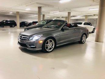 2012 Mercedes-Benz E-Class E550 CABRIOLET **CUIR ROUGE DESIGNO**