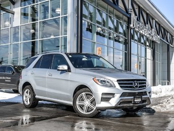 2014 Mercedes-Benz ML350 360 Camera, Panoramic sunroof, Low kms