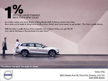 The Volvo Loyalty Bonus Offer