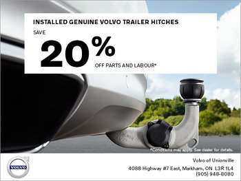 Installed Genuine Volvo Trailer Hitches