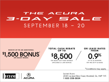 The Acura 3-Day Sale