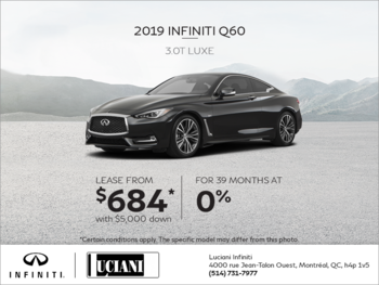 Lease the 2019 INFINITI Q60 Luxe!
