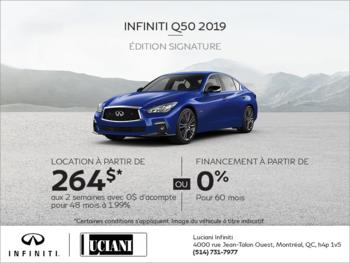 Louez la INFINITI Q50 2019!