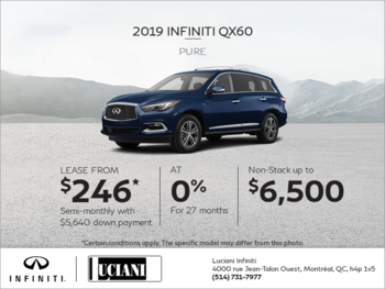 Lease the 2019 INFINITI QX60!