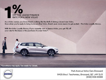 Volvo Loyalty Bonus Offer