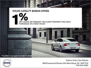 Volvo Loyalty Bonus