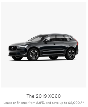 Manufacturer discount on the Volvo XC60
