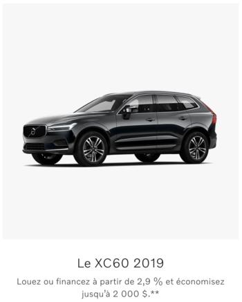Rabais du manufacturier sur le Volvo XC60
