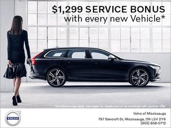 Service Bonus with Every New Vehicle