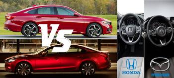 2019 Honda Accord vs 2019 Mazda 6