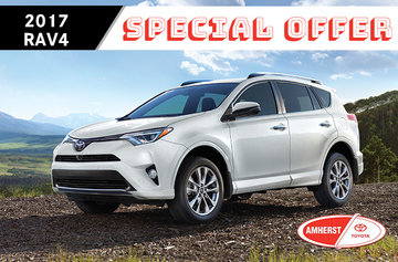 Special offer on the 2017 Toyota RAV4