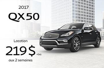 Promotion QX50