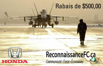 RABAIS POUR LE PERSONNEL MILITAIRE CANADIEN