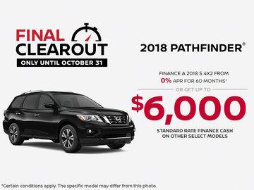 Save on the 2018 Pathfinder!