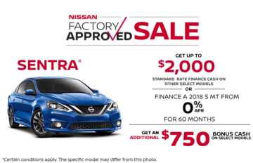 Save on the 2018 Nissan Sentra