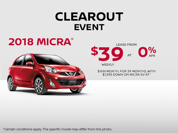 Save on the 2018 Nissan Micra!