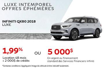 QX80 VUS Pleine Grandeur De Luxe 2018