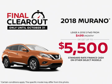 Save on the 2018 Nissan Murano!