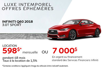 Louez la INFINITI Q60 2018!
