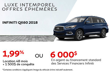 Louez la INFINITI QX60 2018!