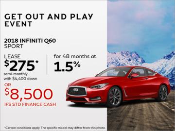 Lease the 2018 INFINITI Q60 sport!