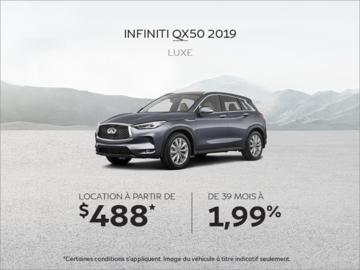 Louez la INFINITI QX50 2019!