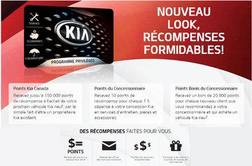 Programme Privilèges Kia accumuler des points