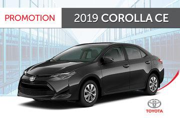 2019 Corolla CE CVT