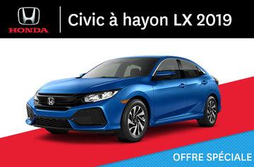 2019 Civic à hayon LX Manuel